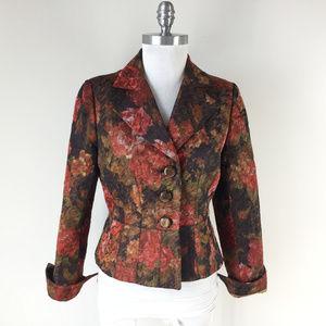 Kay Unger S 6 Orange Rust Brown Blazer Jacket